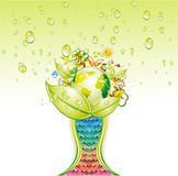 Ecology Green World Cup Royalty Free Stock Images