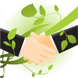 Ecology handshake Royalty Free Stock Images