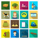 Ecology, hobbies, textilesand other web icon in flat style.and other web icon in flat style.leisure, trade, knowledge. Ecology, hobbies, textilesand other  icon Stock Images