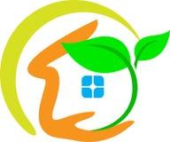 Ecology home. Illustration of ecology home design isolated on white background stock illustration