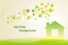Ecology house. Ecology  green house - ecology background Stock Photo