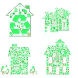 Ecology house Stock Images