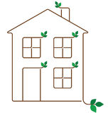 Ecology house Stock Photography