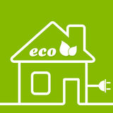 Ecology the house Royalty Free Stock Photography