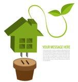 Ecology house background  Stock Photos