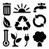 Ecology icon great for any use. Vector EPS10. Royalty Free Stock Images