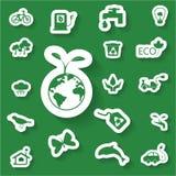 Ecology icon 3. Ecology green icon set 2 Royalty Free Stock Photos