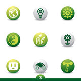 Ecology icon series Royalty Free Stock Images