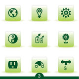 Ecology icon series Stock Photos