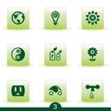 Ecology icon series Stock Photos