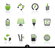 Ecology icon series stock illustration