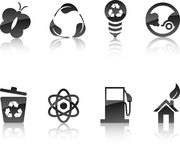 Ecology icon set. Stock Photo
