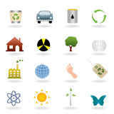 Ecology icon set Stock Image