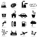 Ecology icon set Royalty Free Stock Photo