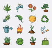 Ecology icon set Stock Photos