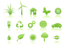 Ecology icon set royalty free stock photography