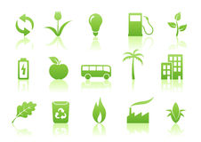 Ecology icon set Royalty Free Stock Images