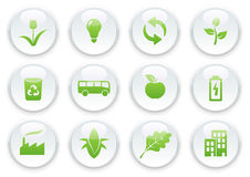 Ecology icon set Royalty Free Stock Photos