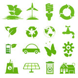 Ecology icon set 1 Royalty Free Stock Images