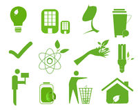 Ecology icon set 4 Stock Photo