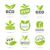 Ecology icon set. Eco-icons. Packing and a set of icons that can be used in all kinds of natural products Royalty Free Stock Photography