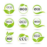 Ecology icon set. Eco-icons. Packing and a set of icons that can be used in all kinds of natural products Royalty Free Stock Photos