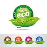 Ecology, icon set. Eco-icons. Packing and a set of icons that can be used in all kinds of natural products Royalty Free Stock Image