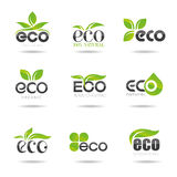 Ecology, icon set. Eco-icons. Packing and a set of icons that can be used in all kinds of natural products Royalty Free Stock Photos