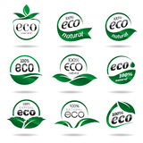 Ecology, icon set. Eco icons. Packing and a set of icons that can be used in all kinds of natural products Royalty Free Stock Images