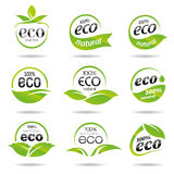 Ecology, icon set. Eco-icons. Packing and a set of icons that can be used in all kinds of natural products Stock Photography