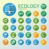 Ecology Icon Set Stock Photo