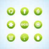 Ecology icon set for green design Stock Images