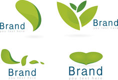 Ecology icon set. Leaf, logos of green leaf, brand Royalty Free Stock Images