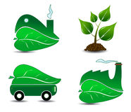 Ecology Icon Set One Royalty Free Stock Photos