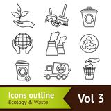 Ecology Icon Set Outline Royalty Free Stock Photos