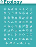 Ecology icon set. Set of the simple Ecology related icons Stock Photography