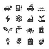 Ecology icon set, vector eps10 Royalty Free Stock Image