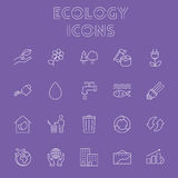 Ecology icon set. Royalty Free Stock Images