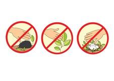 Ecology icons. Illustration of nature protection, ecology icons, isolated Stock Photos