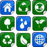 Ecology icons. Royalty Free Stock Image