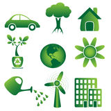Ecology - Icons Stock Photography