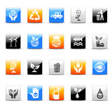 Ecology icons. Set of 20 glossy ecology icons vector illustration