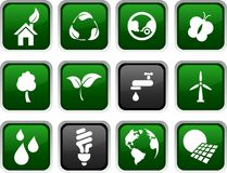 Ecology icons. Stock Photo