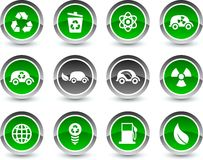 Ecology icons. Stock Image