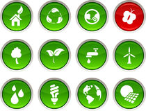 Ecology icons. Royalty Free Stock Images