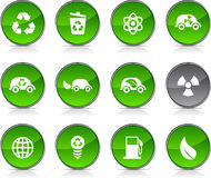 Ecology   icons. Stock Photography