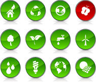 Ecology   icons. Royalty Free Stock Photo