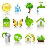 Ecology icons. Set of 12 ecology icons Royalty Free Stock Image