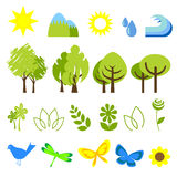 Ecology icons 2 Stock Image