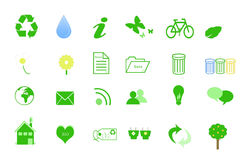 Ecology Icons. For the Web Royalty Free Stock Photo
